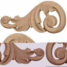 "<strong>Ekena Millwork</strong> Swaying 4 1/8"" H x 9 1/8"" W x 3/4"" D Medium Scrolls Onlay"