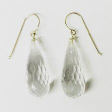 Fauceted Rock Crystal Drop Earrings