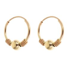Children's Endless Beaded Hoop Earrings