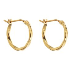 Children's Twisted Hoop Earrings