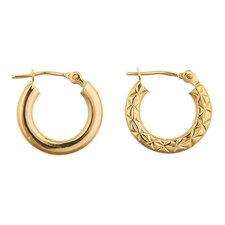 Reversible Hoop Earrings
