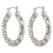 <strong>Sasson Jewelry</strong> Twisted Pierced Hoop Earrings