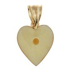 Mustard Seed 14K Gold Heart Pendant