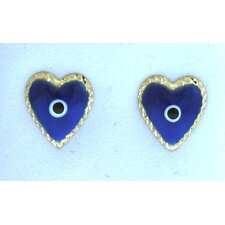 <strong>Sasson Jewelry</strong> Evil Eye Heart Stud Earrings