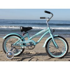 "Girl's 16"" Beach Cruiser Bicycle"