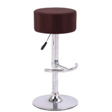 "23.5"" Adjustable Swivel Bar Stool with Cushion"
