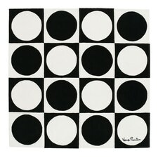 Verner Panton VP VI Black/White Area Rug