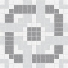 "<strong>Mosaic Loft</strong> Urban Essentials 12"" x 12"" Rounded Lattice Mosaic Pattern Tile in Calm Grey"