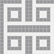 "Urban Essentials 12"" x 12"" Square Lattice Mosaic Pattern Tile in Calm Grey"