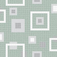Urban Essentials Balanced Squares Mosaic Pattern Tile in Placid Turquoise