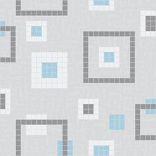 "<strong>Mosaic Loft</strong> Urban Essentials 24"" x 24"" Balanced Squares Mosaic Pattern Tile in Breeze Blue"