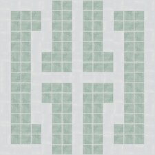 "Urban Essentials 12"" x 12"" Bold Chain Mosaic Pattern Tile in Placid Turquoise"