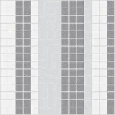 "<strong>Mosaic Loft</strong> Urban Essentials 12"" x 12"" Varied Stripes Mosaic Pattern Tile in Calm Grey"