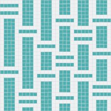 "<strong>Mosaic Loft</strong> Urban Essentials 24"" x 24"" Modern Bamboo Mosaic Pattern Tile in Deep Teal"