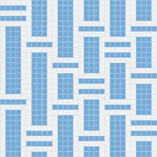 "<strong>Mosaic Loft</strong> Urban Essentials 24"" x 24"" Modern Bamboo Mosaic Pattern Tile in Lakefront Blue"