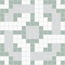 "<strong>Mosaic Loft</strong> Urban Essentials 12"" x 12"" Rounded Lattice Mosaic Pattern Tile in Placid Turquoise"