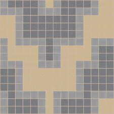 "<strong>Mosaic Loft</strong> Urban Essentials 12"" x 12"" Stepped Chevron Mosaic Pattern Tile in Urban Khaki"