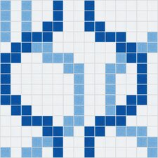 "Urban Essentials 12"" x 12"" Wandering Mosaic Pattern Tile in Lakefront Blue"