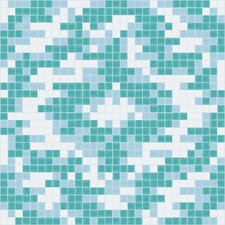 Urban Essentials Cepko Ikat Mosaic Pattern Tile in Deep Teal