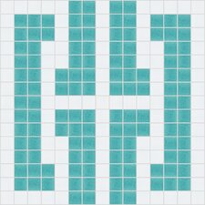 "Urban Essentials 12"" x 12"" Bold Chain Mosaic Pattern Tile in Deep Teal"