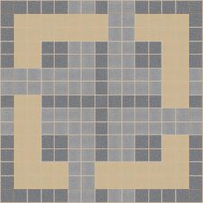 "Urban Essentials 12"" x 12"" Woven Lattice Mosaic Pattern Tile in Urban Khaki"