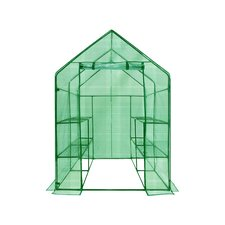 "Deluxe Steel 56"" x 56"" Walk-in Learn-To Greenhouse"