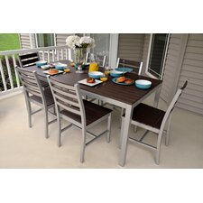 "<strong>Elan Furniture</strong> Loft 72""x36"" Outdoor Dining Set"