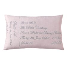Ticket Filled Boudoir Cushion