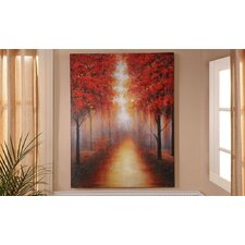 Autumn Trees Photographic Print on Canvas