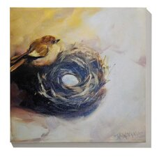 Birds Nest Painting Print on Canvas