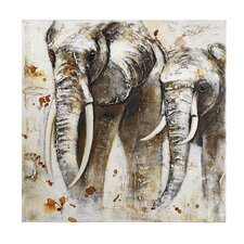 Elephant Painting Print on Canvas