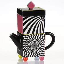 Bright Cubist Cream and Sugar Set