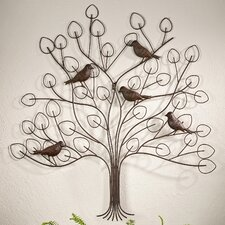 Tree with Bird Design Wall Decor