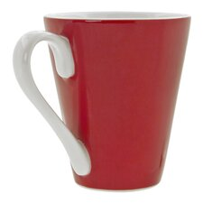 Soho Red 10 oz. Flared Mug