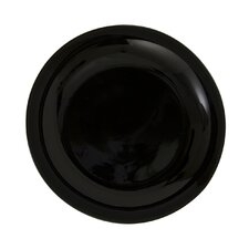 "Black Coupe 6"" Bread and Butter Plate"