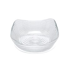 "Zeus Clear 6"" Square Bowl"