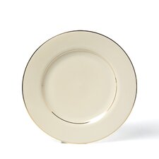 "Cream Double Gold 10.25"" Dinner Plate"