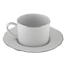 Vine Silver 7 oz. Cup and Saucer (Set of 6)