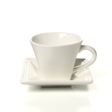 Whittier Square 8 oz. Flared Cup and Saucer