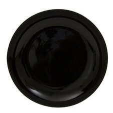 "Black Coupe 12"" Buffet Plate"