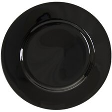 "<strong>Ten Strawberry Street</strong> Black Rim 12"" Buffet / Charger Plate"