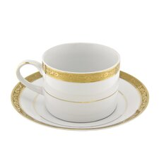 <strong>Ten Strawberry Street</strong> Paradise 8 oz. Teacup and Saucer