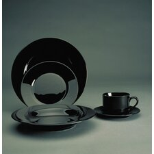 <strong>Ten Strawberry Street</strong> Black Rim Dinnerware Set