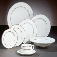 <strong>Ten Strawberry Street</strong> Double Silver Line Dinnerware Set