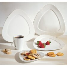 <strong>Ten Strawberry Street</strong> White Triangle Dinnerware Set