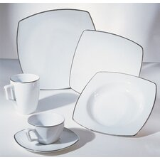 <strong>Ten Strawberry Street</strong> Lotus Silver Line Dinnerware Set