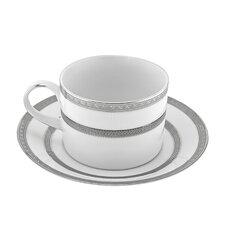 Sophia 8 oz. Teacup and Saucer (Set of 6)