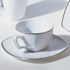 Lotus Silver Line 6 oz. Cup and Saucer