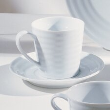Swing White 9 oz. Cup and Saucer