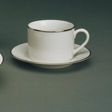 Gold Line 6 oz. Teacup and Saucer
